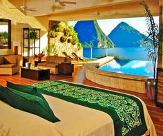 NEW Jade Mountain   St. Lucia  The island's most exclusive new resort has 28 open-air suites with either infinity pools or private Jacuzzis