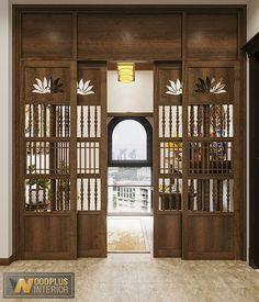 Mandir Design, Pooja Room Design, Door Design Interior, Interior And Exterior, Brick Interior, Columns Decor, Double Door Design, Bedroom Setup, Wooden Door Design