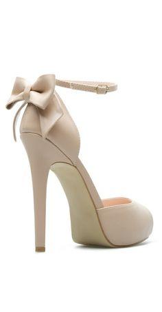 Nude heels | bow back