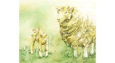 Lamb and Ewe in Spring Original Watercolor Painting. $28.95, via Etsy. Buy this lamb and ewe original watercolor on 6catsart.etsy.com © 2013 Corinne Aelbers