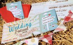 Wedfest wedding invitations by SomethingKindaCutee on Etsy, £1.50