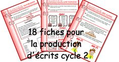 Writing prompts for different types of texts French Kids, Alphabet Writing, French Classroom, Writing Resources, Writing Prompts, Teaching French, Learn French, Teaching Tools, Kids Learning