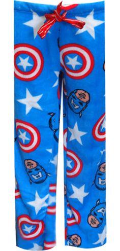 WebUndies.com Marvel Comics Captain America Plush Lounge Pants