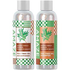 Amaze Tea Tree Oil Shampoo and Conditioner Shampoo For Dry Scalp, Natural Shampoo And Conditioner, Mens Shampoo, Shampoo For Curly Hair, Organic Shampoo, Hair Loss Shampoo, Moisturizing Shampoo, Conditioner For Men, Tea Tree Oil Shampoo