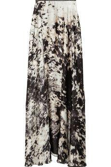#abstract maxi skirt  jean skirt #2dayslook #jean style #jeanfashionskirt  www.2dayslook.com