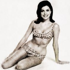Painting - Linda Harrison, Vintage Actress By John Springfield by Esoterica Art Agency , Linda Harrison, Planet Of The Apes, Dr Who, Vintage Hollywood, Crochet Bikini, Actors & Actresses, V Neck T Shirt, Classic T Shirts, Pin Up