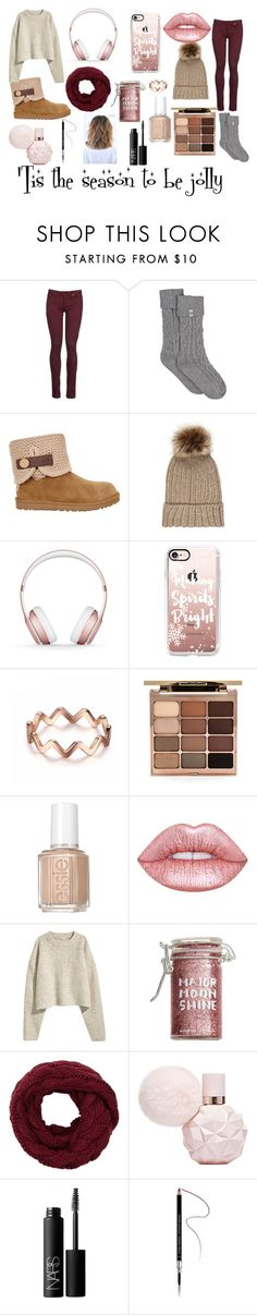 """""""Holiday Outfit"""" by katescakes on Polyvore featuring 8, UGG, Accessorize, Beats by Dr. Dre, Casetify, Stila, Essie, Lime Crime, Major Moonshine and NARS Cosmetics"""