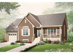 Arborhaven Country Home  from houseplansandmore.com