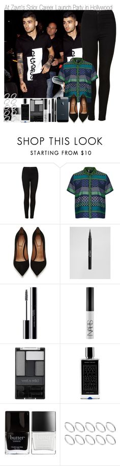 """At Zayn' Solo Career Launch Party in Hollywood"" by elise-22 ❤ liked on Polyvore featuring Topshop, Givenchy, Stila, shu uemura, NARS Cosmetics, Wet n Wild, Agonist, Butter London, ASOS and zaynmalik"