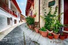 Quiet Village Street (Omodos Cyprus) by pkefali. Please Like http://fb.me/go4photos and Follow @go4fotos Thank You. :-)