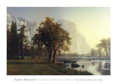 El Capitan, Yosemite Valley, California, 1875 Fine-Art Print by Albert Bierstadt at UrbanLoftArt.com