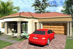 Overall Dimensions- x 2 Car Garage Area- Square meters Bedroom House Plans, House Floor Plans, Garage Plans, Car Garage, Flat Tummy Tips, House Plans South Africa, Building Costs, Guest Toilet, Site Plans