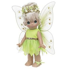 Precious Moments Dolls by The Doll Maker, Linda Rick, Tinkerbelle Fairy Tale, 9 inch Doll Disney Precious Moments, Precious Moments Figurines, Tinkerbell Doll, Porcelain Dolls For Sale, Fine Porcelain, Disney Treasures, Disney Fairies, Disney Dolls, Doll Maker