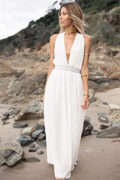 Dress like the goddess that you are in the Solitude Maxi Dress. This dreamy number is a flowy maxi design and features triangle cups with a…