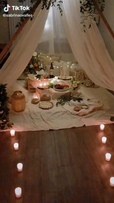Romantic Room Surprise, Romantic Date Night Ideas, Romantic Birthday, Romantic Room Decoration, Romantic Bedroom Decor, Wedding Night Room Decorations, Romantic Living Room, Picnic Decorations, Ideas Sorpresa