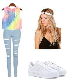 """""""School outfit"""" by mikayla714 on Polyvore featuring Topshop, WithChic, adidas and Boohoo"""