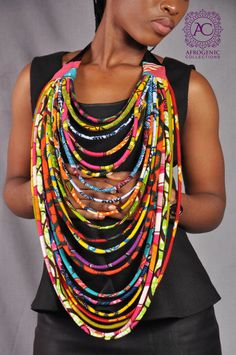 African Statement Piece  Multi strand by AfrogenicCollections