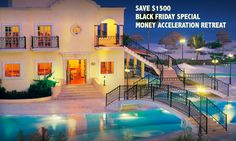 [BLACK FRIDAY SPECIAL DETAILS] Brand New!  Never done before. Save $1500 -Ends Saturday Midnight ! Read details. #mindset #breakthrough #success #entrepreneur #GoalSetting #BeBrilliant #BlackFriday http://www.MoneyAccelerationRetreat.com