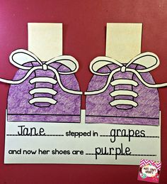 Pete the Cat: I Love My White Shoes craftivity. Great, simple cause and effect activity to supplement the beloved Pete the Cat book.