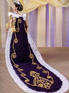 Queen Elizabeth II Outfit for Barbie Doll Annies Royal Court Crochet Pattern New   eBay