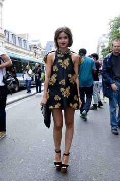 Miroslava Duma at paris fashion week haute couture 2012 fall-winter