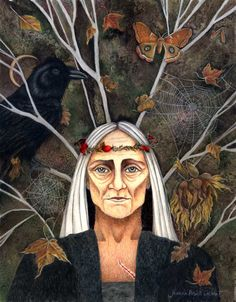 "Crone of All Hallows, ""Elder of the Scar Clan"" by Joanna Powell Colbert"