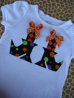 Lil Witch Shoes Stitched Onesie or Shirt--Size 3T Ready to Ship--Perfect for…