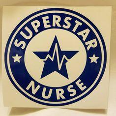 Superstar Nurse Vinyl Decal by FavorDesignsBoutique on Etsy