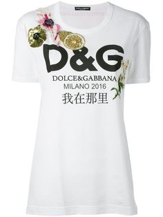 852400e2cfda DOLCE   GABBANA Floral Logo T-Shirt.  dolcegabbana  cloth  t-shirt