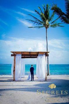 Your groom will be waiting with anticipation for you to walk across the sand towards him #SecretsAkumalRivieraMaya #Mexico #DestinationWedding