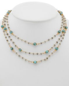 Rachel Reinhardt 14K Gold Over Silver Gemstone Necklace is on Rue. Shop it now.
