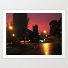 Red night, Atlanta Art Print by Freda Gay - $22.88