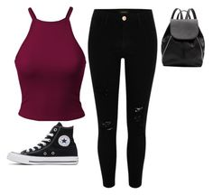 """""""The normal outfit"""" by taylor-jenkins06 on Polyvore featuring River Island, Converse and Witchery"""