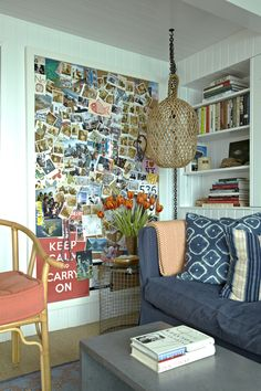 Love a good bulletin board. This one from Nathan Turner's Malibu beach house