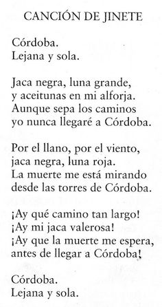Profe Rafa de Infantil: Federico García Lorca - Poema - Canción del Jinete Gabriel Garcia Marquez, Math, Words, Quotes, Writers, Poet, Truths, Frases, Federico Garcia Lorca