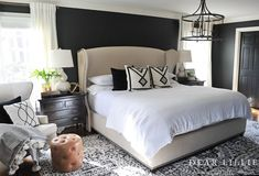 February 2018 A New Rug and Artwork for Our Master Bedroom - Dear Lillie Studio