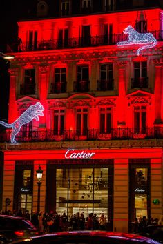 Christmas Illuminations in Cartier, Champs Elysees, Paris