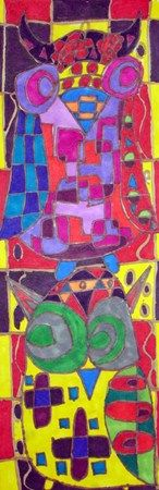 2 by 2 owls- mondrian could be discussed with this