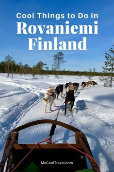 Whether you want to check off a travel dream list item or immerse in an amazing culture, visit Lapland and try these cool things to do in Rovaniemi Finland. Road Trip Europe, Travel Tips For Europe, Backpacking Europe, Europe Destinations, Finland Travel, Lapland Finland, Winter Travel, European Travel, Family Travel