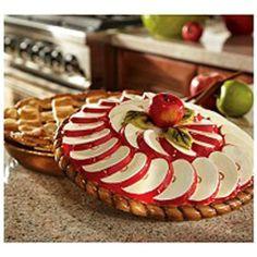 Apple Kitchen Decor, Kitchen Decor Themes, Kitchen Dining, Kitchen Stuff, Pie Carrier, Apple Baskets, Apple Decorations, Pie Plate, Hand Painted Ceramics