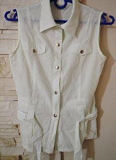 Kup mój przedmiot na #vintedpl http://www.vinted.pl/damska-odziez/koszulki-na-ramiaczkach-koszulki-bez-rekawow/12544919-bezrekawnik-koszulka-zapinana-na-napy-paseczek-s-idealny