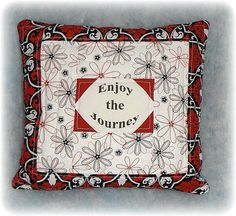 Inspirational Pillow Quilted Red and Black by AWordFitlySpoken, $22.50