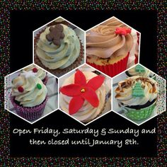 Open again! Hurry up and stop by this weekend! After Sunday we're closed till the 8th! #cupcake #fika #snack #fredagsmys #christmas #dessert #jul #pepparkaka #gingerbread #polka #whiskey #fruitcake #chai #glögg #lyx #homemade #handmade #hembakat #yummy #fint #gott #linné #göteborg #ändrade #öppettider #holiday #hours #semestertider #semesterstängt