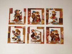 Vintage Hummel Figurines Fabric Blocks by KoopsKountryKalico, $5.00