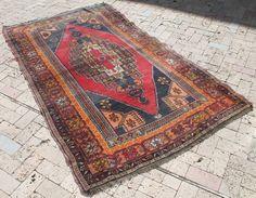 Turkish Rug 53''x92'' Vintage Old Anatolian Carpet 135x235cm | Antiques, Rugs & Carpets | eBay!