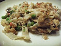 Shirataki tuna casserole. Yummy!! 0 calorie noodles!