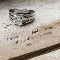Love Quote: I never knew I had a dream until that dream was you. -- Bon Jovi