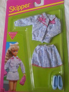 Barbie Skipper Doll 1992 TRENDY TEEN Fashion Outfit  #663 NEW #Mattel