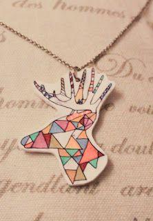 RETRO-pasteller    Deer neacklace Deer, Creative, How To Make, Accessories, Reindeer, Jewelry Accessories