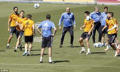 Ronaldo is fit for the Champions League final, says Ancelotti , Real Madrid training ... Champions League 2013/14